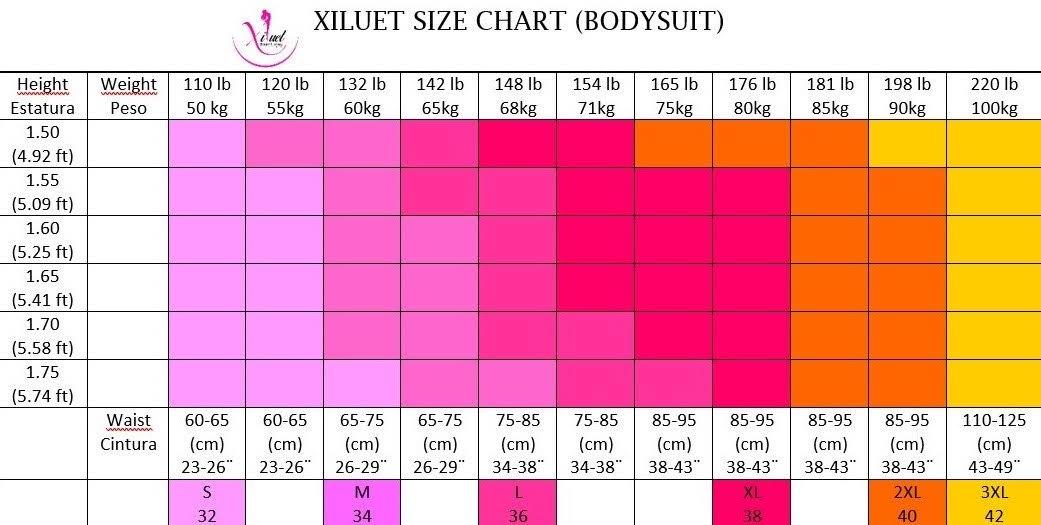 High Compression Bodysuit chart size